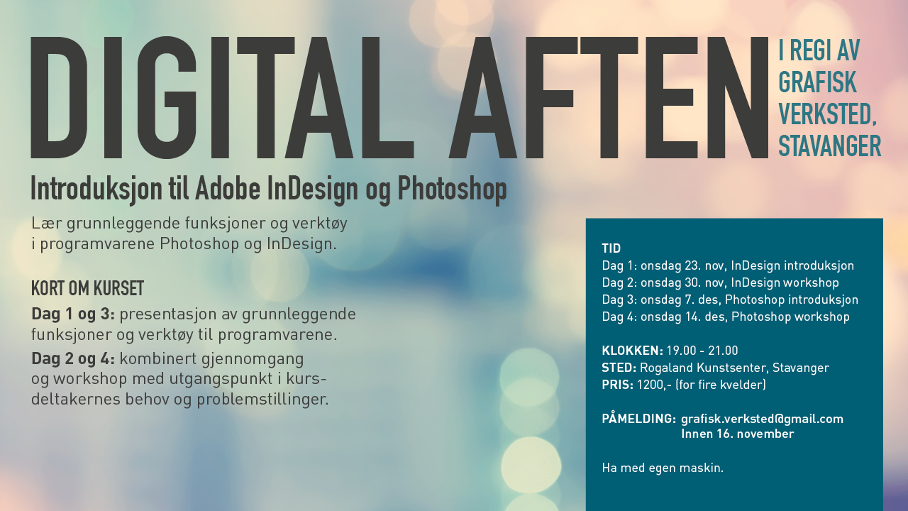 Kurs i InDesign og Photoshop